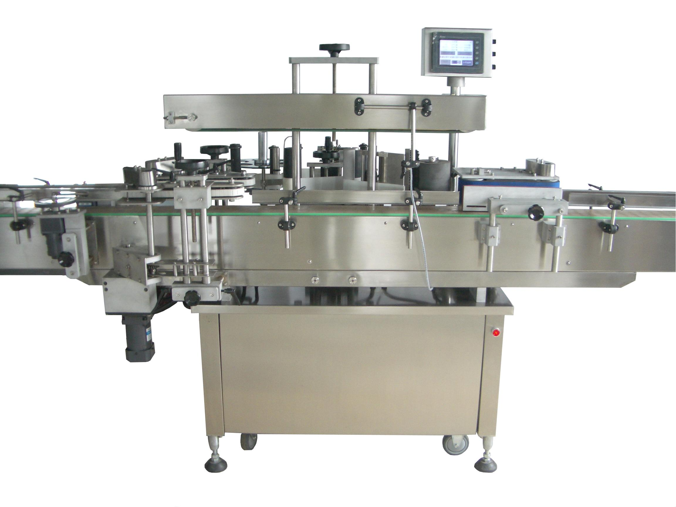 Double Side Round Bottle Sticker Labeling Machine